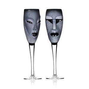 MASQ Tableware Kubik & Electra Champagne 2-pack